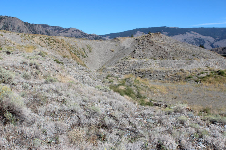 Mormon Metalmark habitat at the Keremeos gravel pit