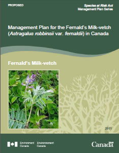 Cover of the publication - Fernald's Milk-vetch