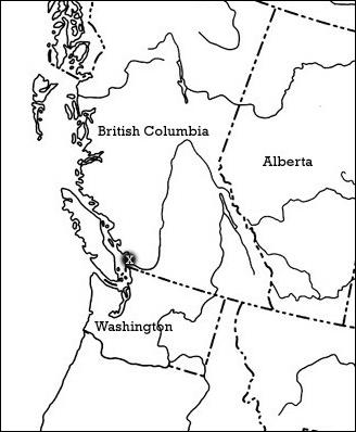 Visual representation of the distribution  of poor pocket moss in Canada