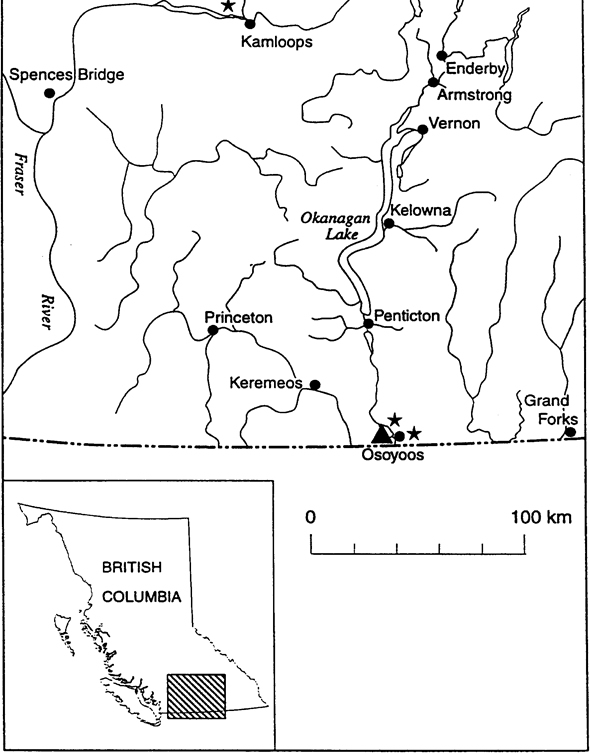 Figure 2 is a map of the distribution and extant occurrences of Toothcup in southern British Columbia.