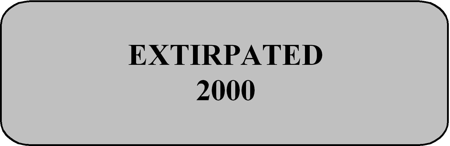 Extirpated 2000