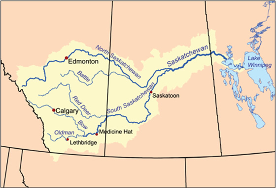 The South Saskatchewan River watershed