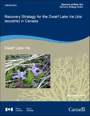 Species at Risk Act Recovery Strategy Series Recovery Strategy for the Dwarf Lake Iris (Iris lacustris) in Canada Dwarf Lake Iris September 2010